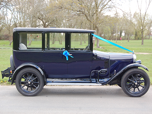 Side of Austin Swanmore Wedding Cars